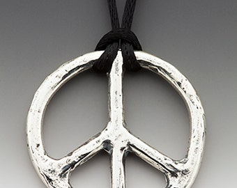 Dust Off Your Peace Signs, We're Going To War... Again - sterling silver.