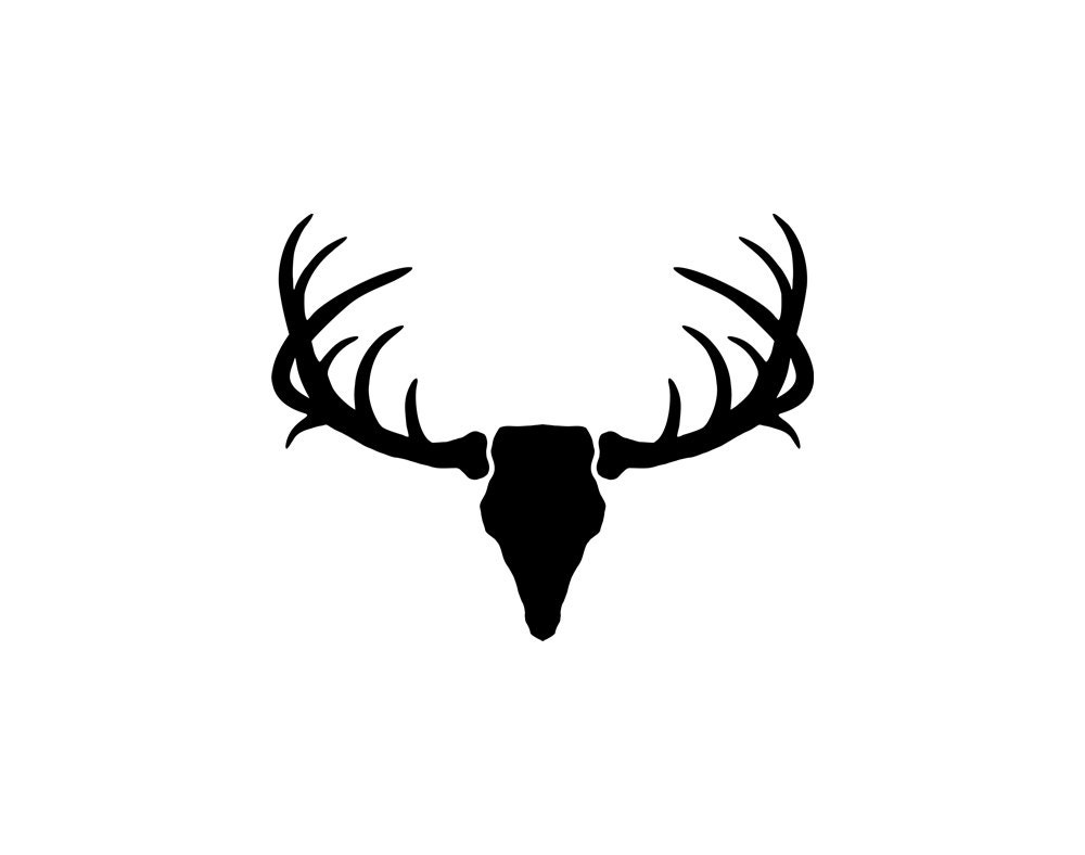 Silhouette Vector Deer Antler Clip Art by DonaldMorrisGraphics