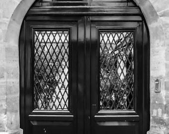 Paris Photography, Paris Photo, French Decor, Paris Decor, Black and White, Paris Doors