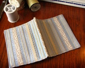 Needle Case | Powder Blue and Gold Striped