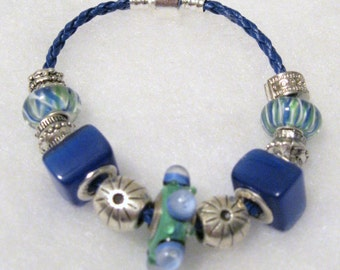 234 - CLEARANCE - Blue and Green Bracelet