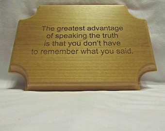 Personalized Solid Wood Rectangle Plaque With Custom Engraving