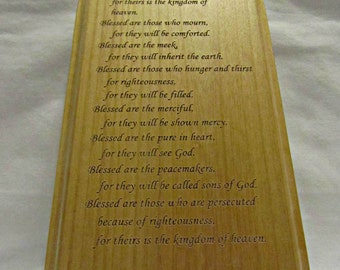 Personalized Solid Wood Plaque With Pointed Top & Custom Engraving
