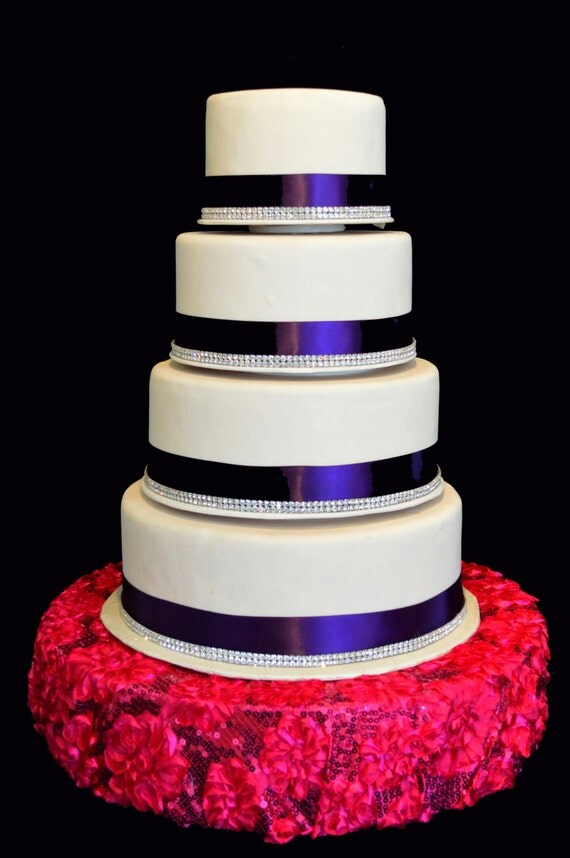 fuschia wedding cake pictures items similar to wedding cake stand large fuschia sequins 14627
