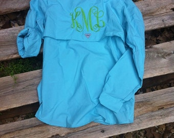 Monogrammed fishing shirt columbia pfg women 39 s bahama for Embroidered columbia fishing shirts