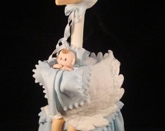 BABY SHOWER Cake Topper, Blue Stork Cake Topper, Blue Stork, Baby Shower Stork, Baby Boy Cake Topper, Boy Baby Shower, Blue Stork Decoration