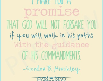 Gordon B Hinckley Quotes Beauteous President Hinckley Quote Be Faithful Be True Don't Sell