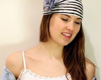 Striped headband, BUY 3 GET 1 FREE, Black white, striped HeadWrap, turband, HairWrap, running Headwrap, lined print for Women. head band