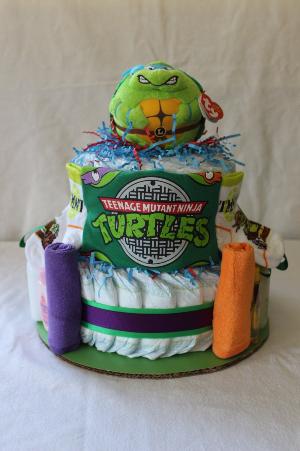 Teenage Mutant Ninja Turtles Themed Diaper Cake
