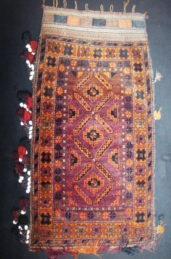 Tribal Rug Nomad Saddle Bag Complete Semi Antique Baluch