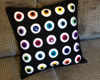 Handmade Eyeball Cushion COVER (No inner paddding)