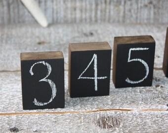 Chalkboard Blocks Wooden Blocks Kid's Chalkboard Blocks Chalkboard Signs Wedding Day Decor Wedding Table Numbers Set of 12 Resuable