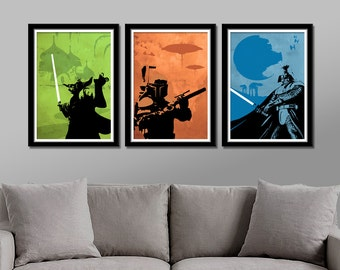 Force Colors Inspired Minimalist Movie Poster Set - Home Decor