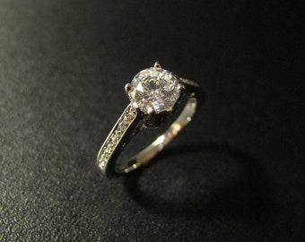 Vintage Designer Inspired Engagement Ring, Made to Order