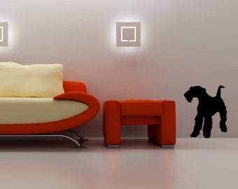 LIFESIZE Airedale Terrier Dog Silhouette Wall Decal - Choose your Size & Color