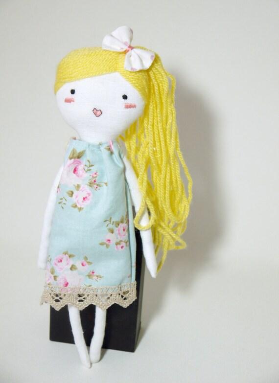 muñeca tela muñeca trapo juguete lino bordado a mano ploudoll personalizado tilda