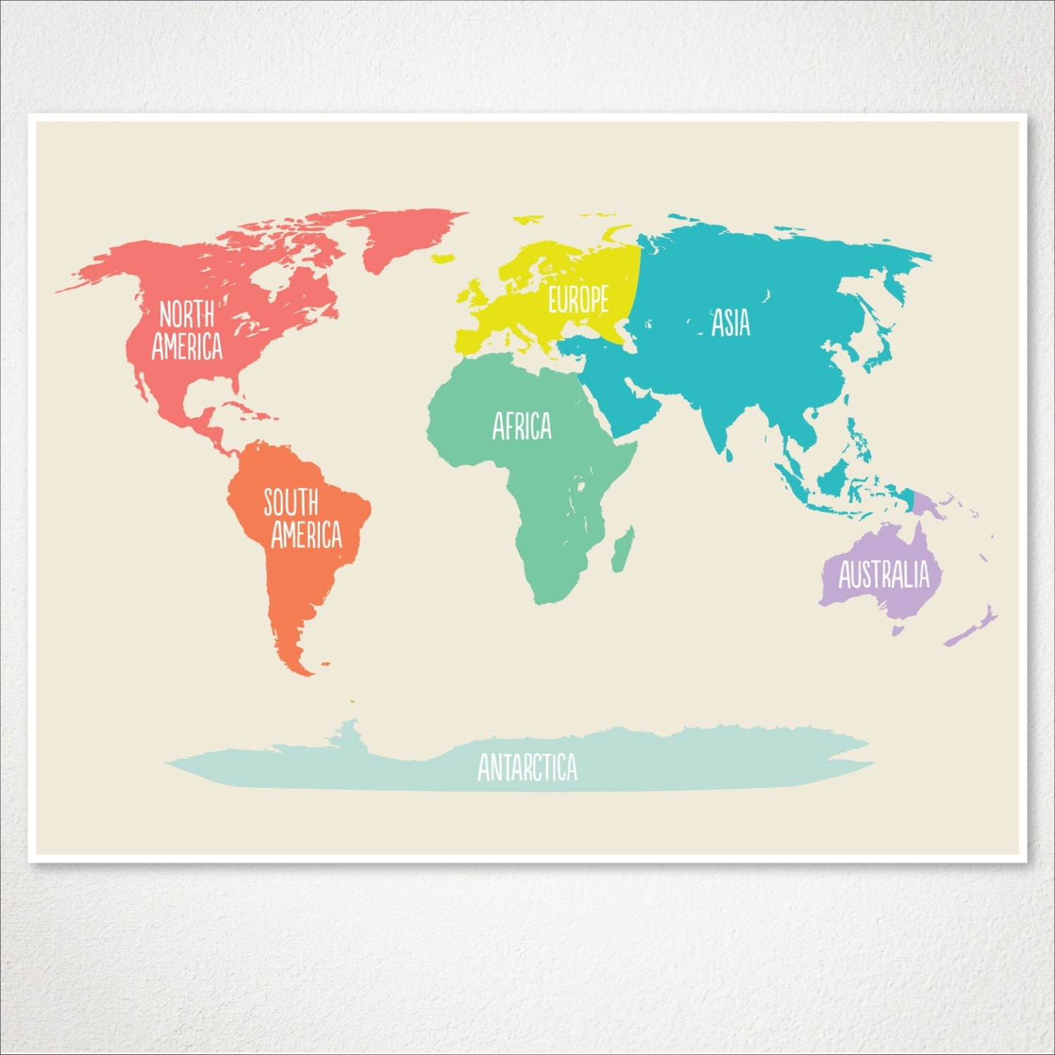 World Map Baby Rug: World Map Kids Nursery Room Decor Baby Nursery Art Playroom