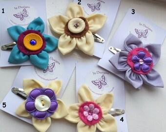 Handmade Flower Hair Clip,  hair accessory child's accessory flower clip girls clip