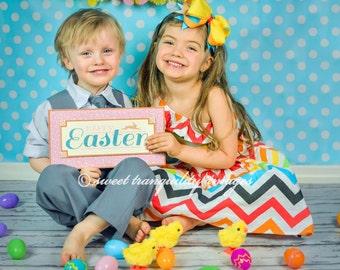 Photo Backdrops Easter Polka-Dot, Photography Backdrop, Newborn Photography Backdrop, Easter Backdrop (FD2112)