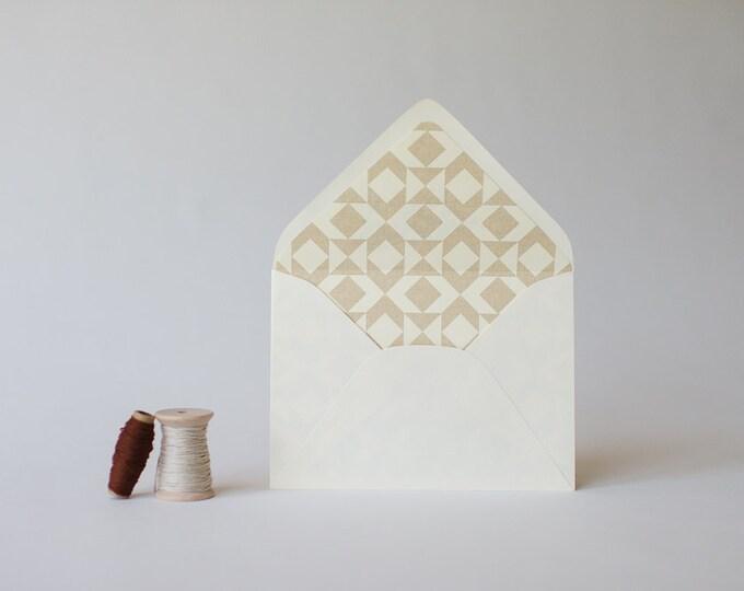 tribal lined envelopes (6 color options) - sets of 10