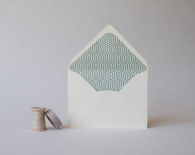 geometric lined envelopes (16 color options) - sets of 10