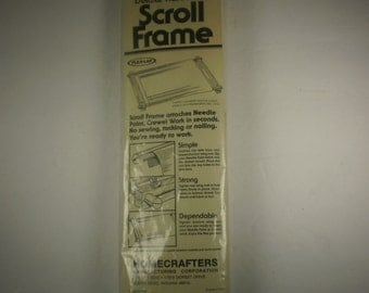 "Homecrafters Deluxe Hardwood Adjustable Needlework Scroll Frame, 6"" x 12"", Made in U.S.A."