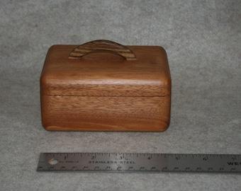 Curvy Mahogany Lift Top Box