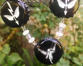Fairy Bottle Cap Necklace