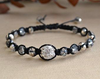Crystal Knotted Friendship Bracelet