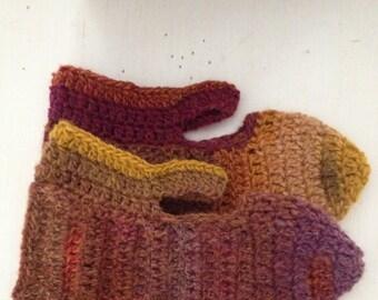 Wool MaryJane Slippers ~  size 6.5-7.5