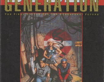 1993 Cyberpunk 2020 CyberGeneration Roleplaying Supplement. VF-. R. Taslorian Games.