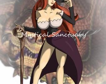 Sorceress Dragon's Crown 8.5 x 11 Art Print