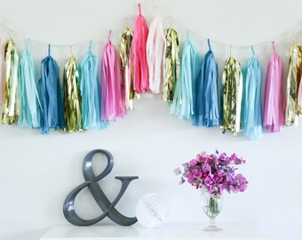 CUPCAKE  tissue tassel garland party decoration