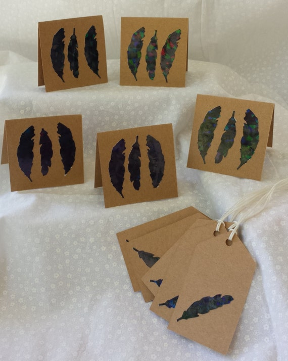 Feather Gift Tags and Hand Tags