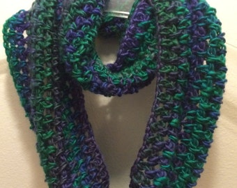 Dragonfly Infinity Crocheted Scarf
