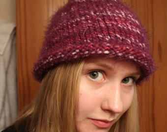 Curly-Edged Fuzzy Hat