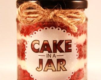 Small Red Velvet Cake in a Jar