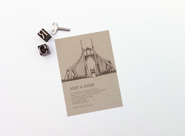 Wedding Invitations Portland Oregon: Printable Wedding Invitation