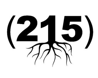 215 Phone Area Code Home Grown (Roots) - Custom Zip Codes Available - Car/Truck/Phone/Home/Computer Decal