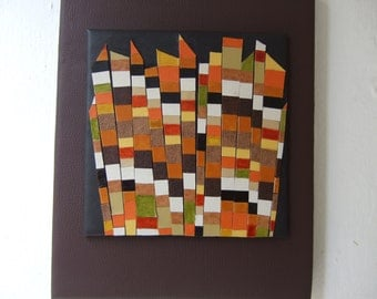 Peaks - mosaic and collage wall art