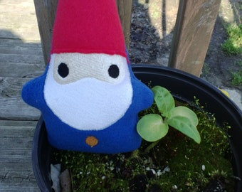 Garden Gnome, Forest Creature, Woodland Gnome, Magical Creature,Stuffed Gnome, Gnome Toy,Plushie