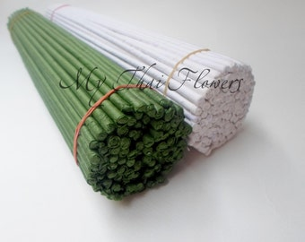 100 Pcs Green\White Wire 4 mm\30cm