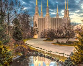 Washington D.C. LDS Temple   Matte Photo Print   FREE Shipping