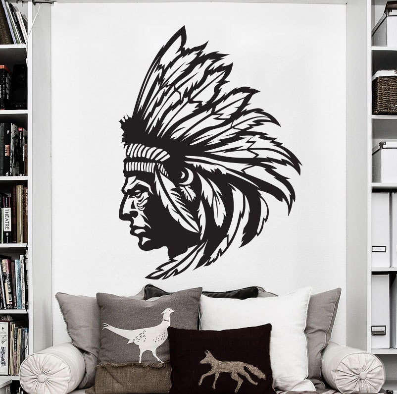 Native American Art Indian Decal Native American Decor Indian