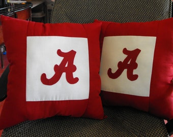 Two Alabama throw pillows...Roll Tide