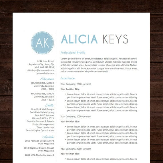 Professional Resume Template Microsoft Word: Unavailable Listing On Etsy