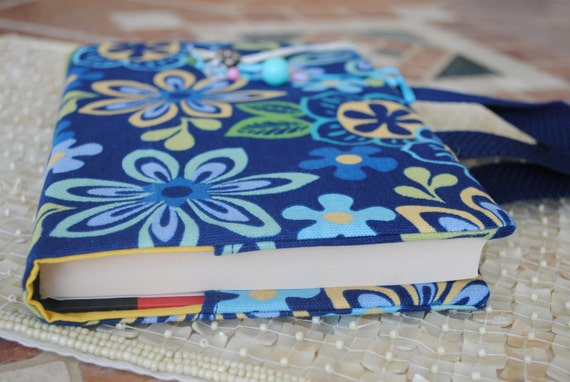Cloth Book Covers With Handles ~ Items similar to fabric book cover with handles journal