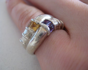 Amethyst Vintage Sterling silver ring, size 6, great condition!