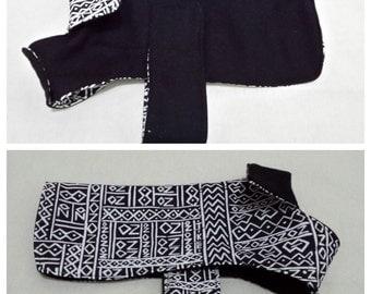 Dog Coat - Black and white print