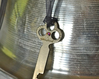 Rockford Key Necklace - Industrial Jewelry - Found Object Jewelry